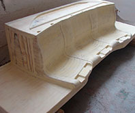 Modelos para piezas composite hidráulico